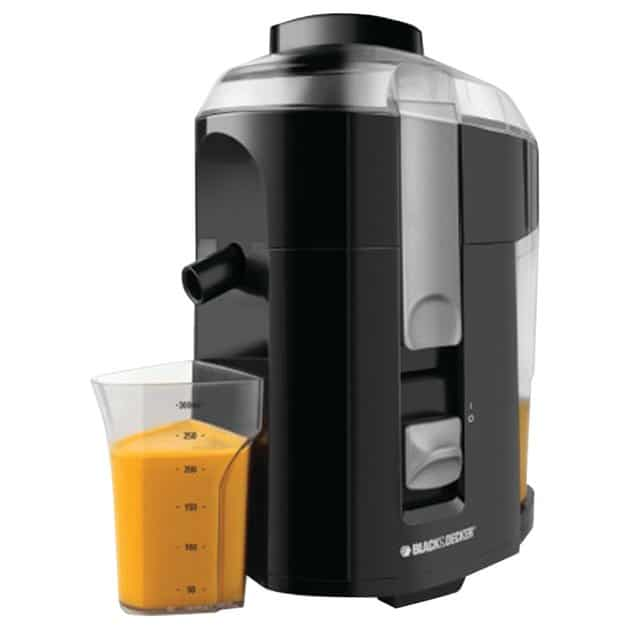 BLACK+DECKER JE2200B 400-Watt Fruit and Vegetable Juice Extractor