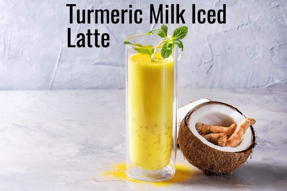 turmeric iced latte juice