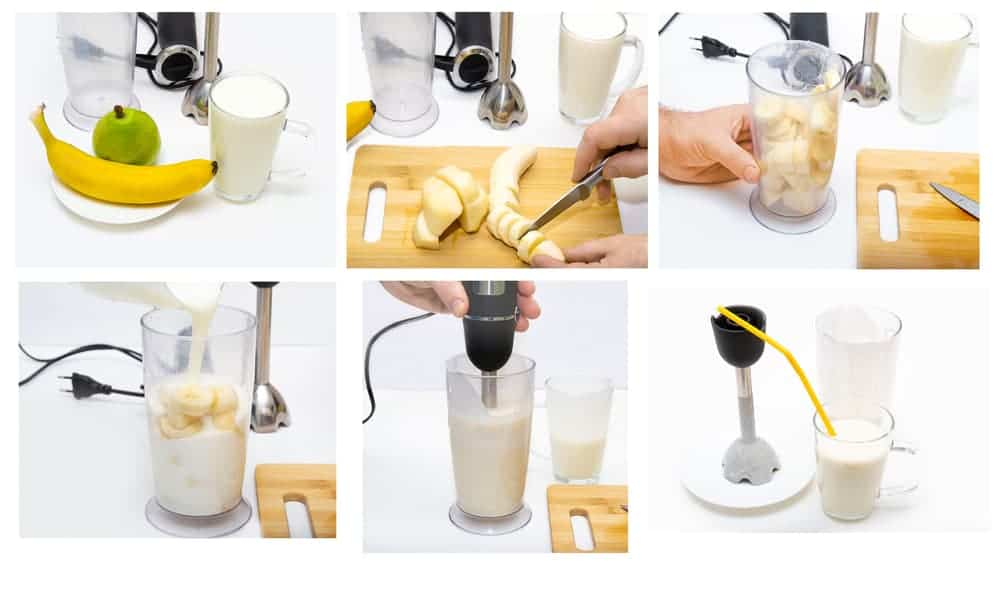 how to make juice using banana and pear
